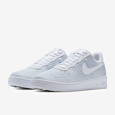NIKE AIR FORCE 1 Flyknit White Platinum Mens Shoe Trainer