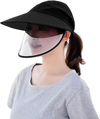 Sun Hat with protective safety face shield cover for Women
