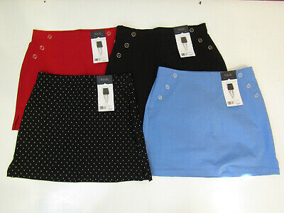 Rafaella Womens Skort Skirt Black Red Blue Polka Dot Comfort S M L XL 2XL