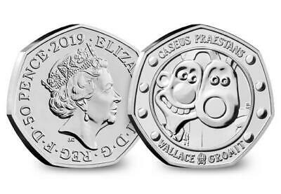 2019 50p  Wallace and Gromit  CERTIFIED BU free post