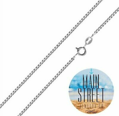 Brand New 925 Italy SOLID Sterling Silver 1mm Box Chain Necklace  All Lengths