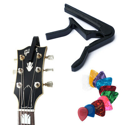 Trigger Guitar Capo for Acoustic, Classic, Electric Guitar - 4 Free Picks!