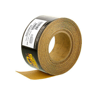 "80 Grit Gold Longboard 20 Yards Long by 2-3/4"" Wide PSA Self Adhesive Sandpaper"