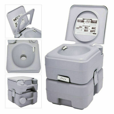 5 Gallon 20L Portable Toilet Flush Travel Camping Commode Potty Outdoor Indoor
