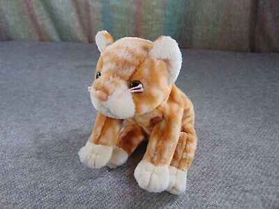 """Ty NEW Beanie Baby Babies AMBER /& SILVER set of 2 Tabby Cats 7/"""" MWMT FREE Ship!!"""