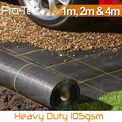 105gsm WeedControl Fabric Extra Heavy Duty Garden Ground Cover Membrane Sheet