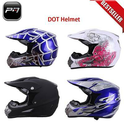DOT Adult Youth Safety Helmet Motorcycle Motocross Full Face Off-Road Dirt Bike