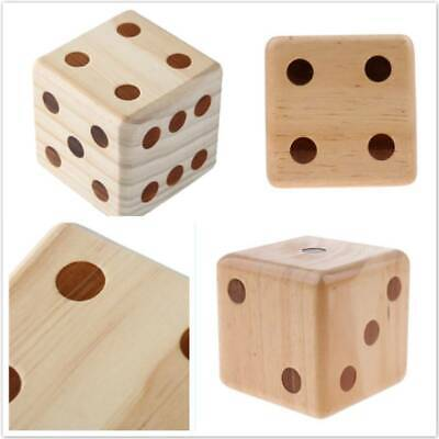 Giant Wooden Dice 9cm D6 Six Sided Spot Dots for Outdoor Games Barbecue Parties