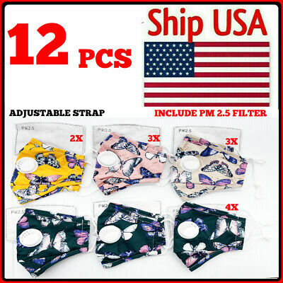 SALE! 6 PCS - USA FLAG Reusable Mask Washable Face Cover Protective Mouth Unisex