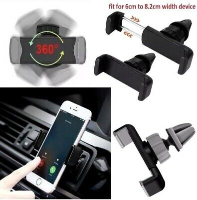 Mobile Phone 360 Rotating in Car Air Vent Mount Holder Cradle Stand UK