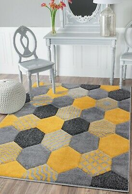 New Large Small Grey Black Silver Carpets Rugs Long Hall Runners Yellow Mats Rug