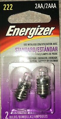 10 X 222 2-AA 2AAA Cell 2.2// V Magnified Lens Screw FLash Light Bulb