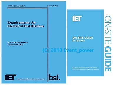 NEW BS7671 OSG 2018 18th Edition On site guide Wiring Regulation IET 18 Ed NEW