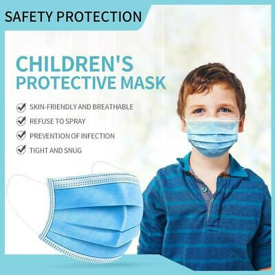 50 CHILDREN FACE MASKS Disposable 3 Layers Breathable Earloop Protective Covers