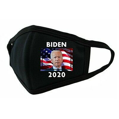 Election 2020. Joe Biden. 3D Black 100% Cotton Face Mask. Unisex