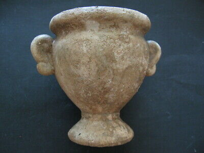ANCIENT ROMAN TERRACOTA RITUAL JUG PITCHER 1-3 ct. AD 95 mm. from VILLA RUSTICA