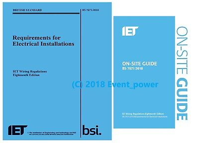 NEW BS7671 OSG 2018 18th Edition On site guide Wiring Regulation IET 18 Ed SALE