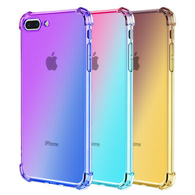 For iPhone 6 6S 7 8 Plus SE 2020 X XR XS MAX Silicone Shockproof Soft Clear Case