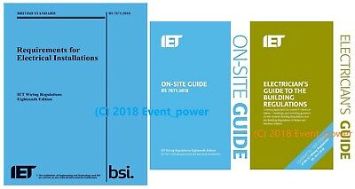 18th BS 7671 OSG & Building Regs Blue Regs On Site Guide Part P IET Regulations