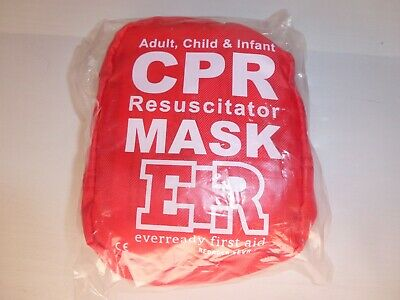 Ever Ready Adult Child Infant CPR Resuscitator Masks (2), First Aid, Portable