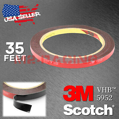 Genuine 3M VHB #5952 Double-Sided Mounting Foam Tape Automotive Car 6mmx35FT