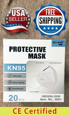 20 Pack KN95 Disposable Face Mask Respirator Protective PM 2.5 CE Certified