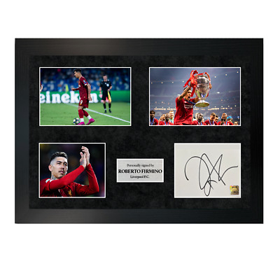 Brazil Signed Photo A5 Mounted Print Roberto Firmino #3 FREE DELIVERY