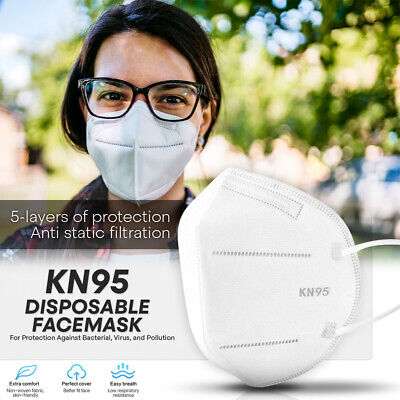 KN95 Protective Face Mask -10 PCS- PM2.5 FFP2 95% Disposable Respirator Cover