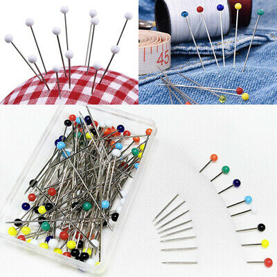 49mm x 0.78mm  50 count GLASS HEADED PIN DRESSMAKERS DRESSMAKING PIN ASSORTED