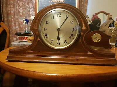 Antique Edwardian Mantle Clock With Chiming!