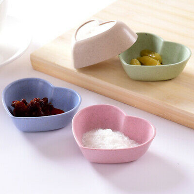 1pc Sauce Dish Wooden Fish Shape Dipping Bowls Snack Plate for Party Restaurant