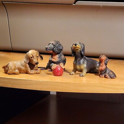 CRYSTAL Dachshund Figurine Doggy deluxe Dog Puppy COLLECTOR NEW in Box Big Sale