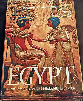 EGYPT Land and Lives of the Pharaohs Revealed - Used Hardcover with CD & Casing