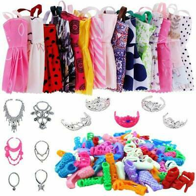 88pcs/Set for Barbie Doll Dresses, Shoes and jewellery Clothes Accessories DR