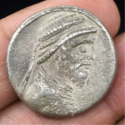 Ancient archaic Greek tetradrachm silver coin