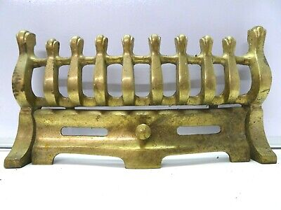 Vintage Solid Brass Fire Fret Front Grill / Solid and Sturdy 14.5""
