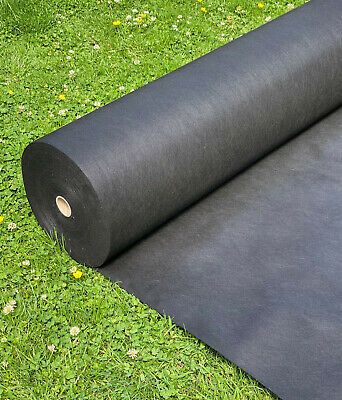 2m wide Weed Control Fabric Ground Cover Membrane Garden Landscape + Fixing Pegs