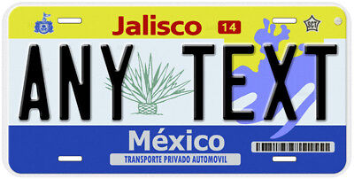 Jalisco Mexico Any Name Number Novelty Auto Car License Plate C03