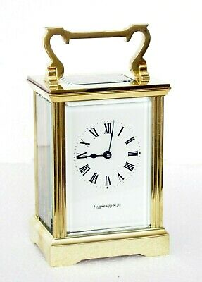 Superb Mappin & Webb Gilt Brass Carriage Clock, Checked, Oiled & Working Well