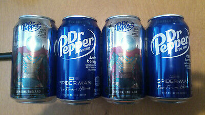 Spiderman far from home Dr Pepper Cans ALL 5 12oz RARE empty