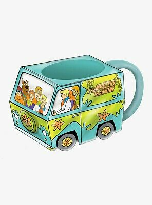 Multicolor 5.25 Inch Enesco Scooby Doo Ceramics Mystery Machine Coin Bank