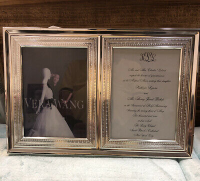 Wedgwood Vera Wang With Love Double Invitation Photo Frame 5 X7 Store Display 21 87 Picclick Uk
