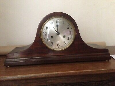 Large Vintage 1940's chiming Napoleon's Hat mantle clock - working with key
