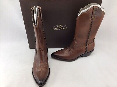 Patricia Nash Whiskey Leather Pointed Toe Western Boots Size 6 K1047