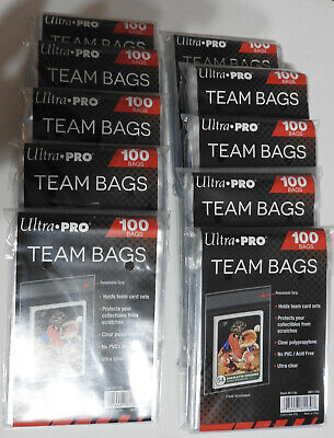 Ultra Pro Team Bags(X1000) - Resealable  Sleeves- Pokemon Mtg Yugioh Free Uk P&P