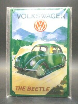 Nostalgia Sign 30 CM Tin Sign VW Volkswagen Garage Metal Shield New