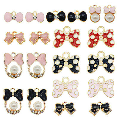18PCS Multi-Colors Enamel Plated Assorted Kiss Lips Charms Pendant DIY Findings
