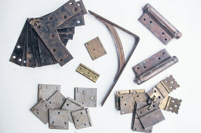 Job Lot of Vintage/Antique (Mid-Century) Hinges and Angle Brackets