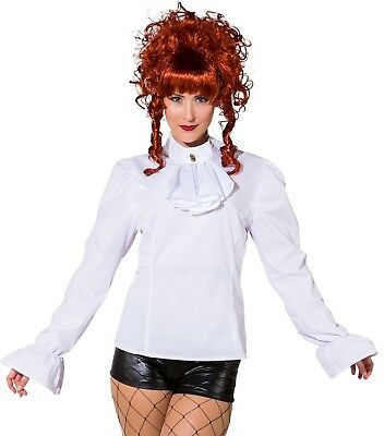 Donna Deluxe Bianco Steampunk Vittoriano Cosplay Costume Blusa