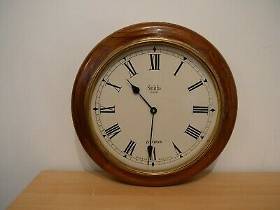 ENGLISH SMITHS 1940s Antique Mahogany Vintage Wall Clock